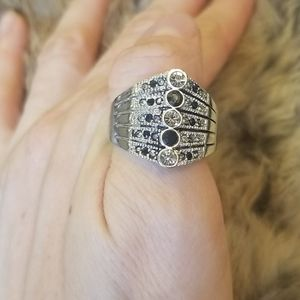 2/$12 Lia Sophia | silver ring sz 11